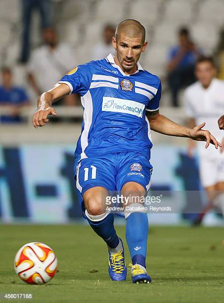 Jan Rezek from Apollon Limassol FC in action in the UEFA Europa League match between Apollon Limassol FC ad FC Zurich on September 18 2014 in Nicosia...