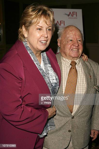 Jan Rooney and Mickey Rooney during AFI Honors Hollywood's Arquette Family With The Sixth Annual 'Platinum Circle Awards' Green Room and Show in Los...