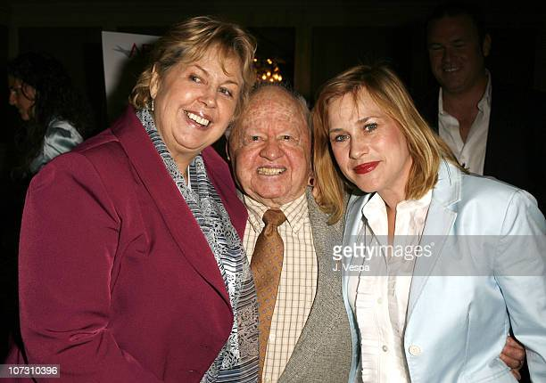 Jan Rooney Mickey Rooney and Patricia Arquette during AFI Honors Hollywood's Arquette Family With The Sixth Annual 'Platinum Circle Awards' Green...