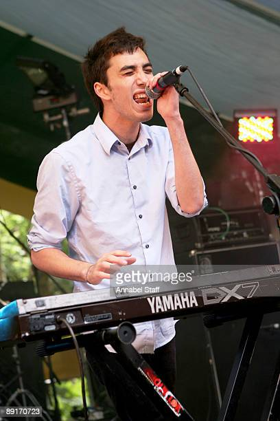 Jan Rosenfeld of Yes Giantess performs on stage on the second day of Latitude Festival at Henham Park Estate on July 17 2009 in Southwold England