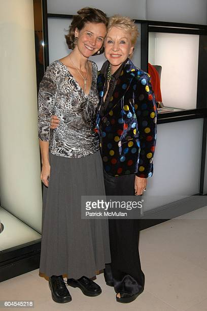Jan Rothschild and Pat York attend LOUIS VUITTON presents OLAFUR ELIASSON at LOUIS VUITTON on Fifth Avenue on November 9 2006 in New York City
