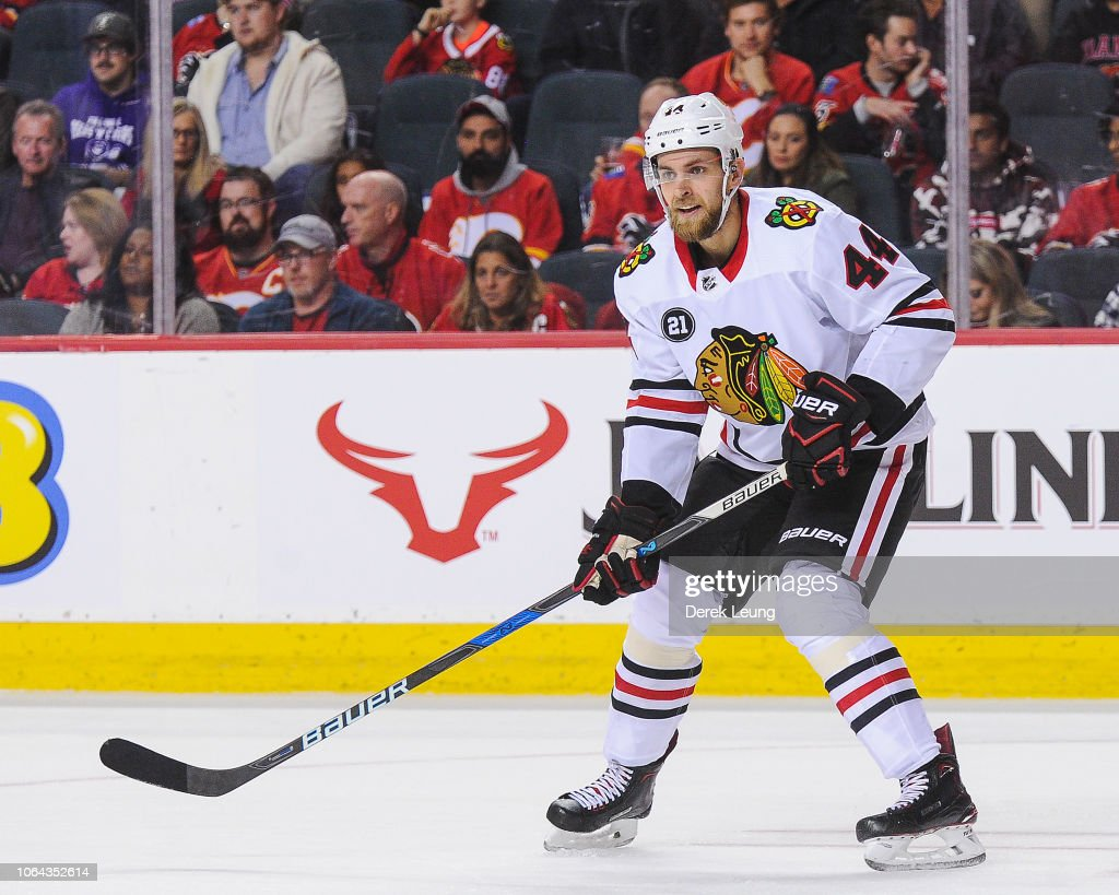 Chicago Blackhawks v Calgary Flames : News Photo
