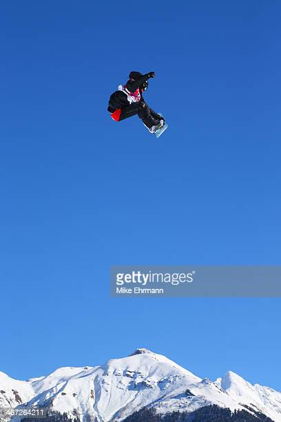Jan Scherrer of Switzerland competes in the Men's Slopestyle Qualification during the Sochi 2014 Winter Olympics at Rosa Khutor Extreme Park on...