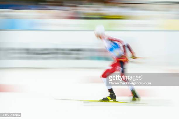 Jan Schmid of Norway takes 2nd place during the FIS Nordic World Ski Championships Men's Nordic Combined Team HS130 on February 24, 2019 in Seefeld,...