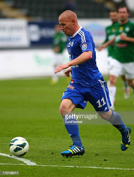 Jan Schulmeister of SK Sigma Olomouc in action during the Czech First League match between FK Jablonec and SK Sigma Olomouc held on May 26, 2013 at...