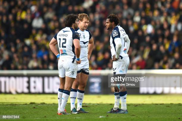Jan Serfontein and Francois Steyn and Benjamin Fall of Montpellier during the Top 14 match between La Rochelle and Montpellier on December 2 2017 in...