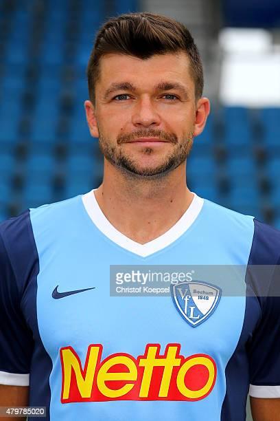 Jan Simunek poses during the team presentation of VfL Bochum at Rewirpower Stadium on July 7 2015 in Bochum Germany