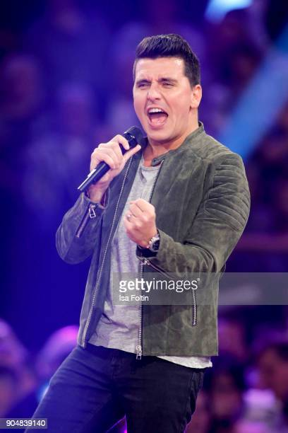 Jan Smit performs at the 'Schlagerchampions Das grosse Fest der Besten' TV Show at Velodrom on January 13 2018 in Berlin Germany