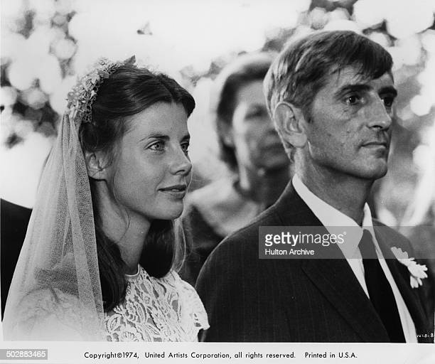 Jan Smithers marries Harry Dean Stanton in a scene from the United Artist movie Where the Lilies Bloom circa 1974