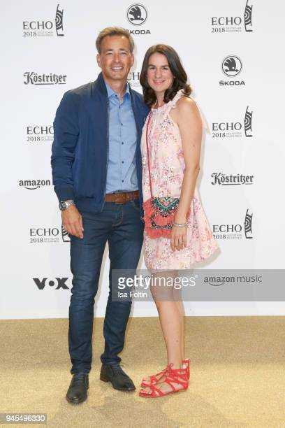 Jan Sosniok and his wife Nadine arrive for the Echo Award at Messe Berlin on April 12 2018 in Berlin Germany