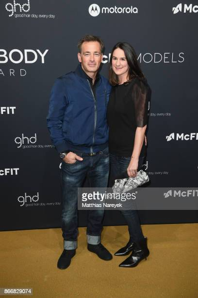 Jan Sosniok and his wife Nadine Moellers attend the New Body Award By McFit Models on October 26 2017 in Berlin Germany