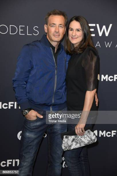 Jan Sosniok and his wife Nadine Moellers attends the New Body Award By McFit Models on October 26 2017 in Berlin Germany