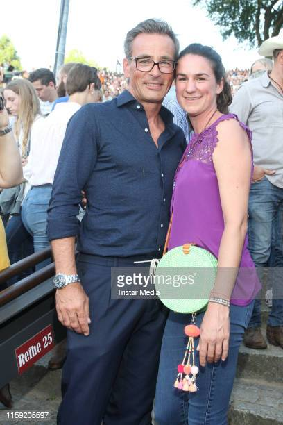 Jan Sosniok and his wife Nadine Moellers during the premiere of the Karl May Festival on June 29 2019 in Bad Segeberg Germany