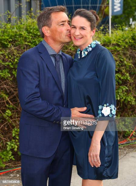 Jan Sosniok and his wife Nadine Sosniok arrive at the GreenTec Awards at ewerk on May 12 2017 in Berlin Germany