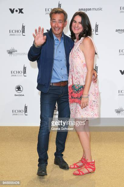 Jan Sosniok and his wife Nadine Sosniok arrive for the Echo Award at Messe Berlin on April 12 2018 in Berlin Germany