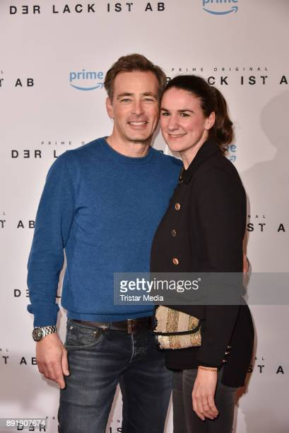 Jan Sosniok and his wife Nadine Sosniok attend the photo call of the 'Der Lack ist ab' at Astor Film Lounge on December 13 2017 in Berlin Germany
