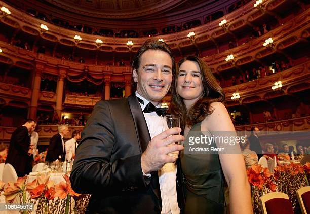 Jan Sosniok and Nadine Moellers attend the Semper Opera ball on January 14 2011 in Dresden Germany