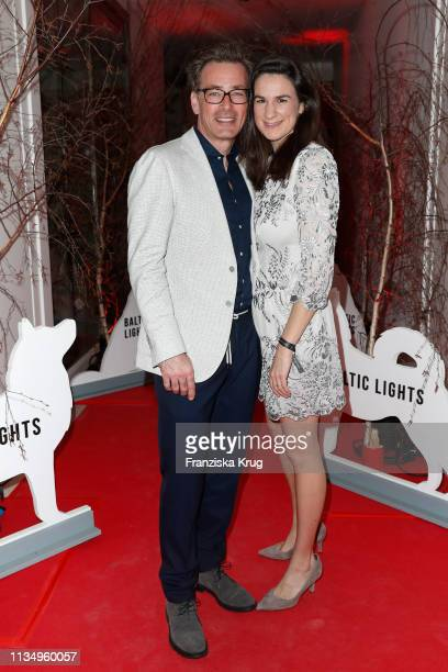 Jan Sosniok and Nadine Moellers during the Baltic Lights gala night event on March 9 2019 in Heringsdorf Germany The annual charity event hosted by...
