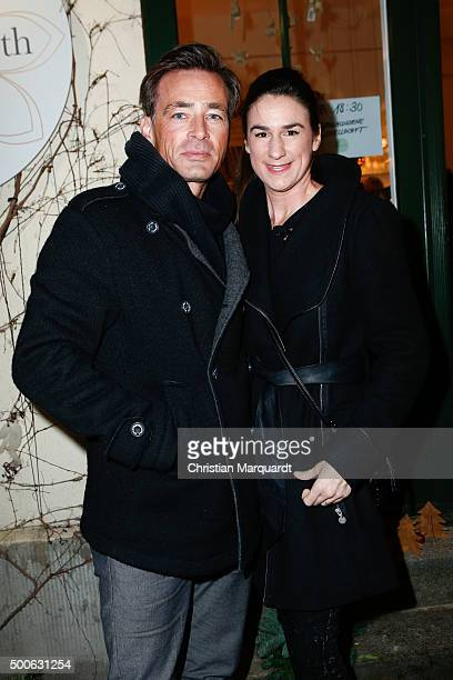 Jan Sosniok and Nadine Sosniok attend the 'Home On Earth' Shop Opening on December 9 2015 in Berlin Germany