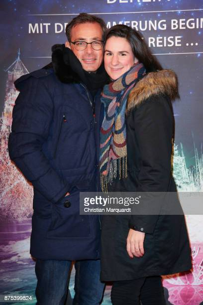 Jan Sosniok and partner Nadine attend the the opening of the Christmas Garden Berlin at Botanischer Garten on November 17 2017 in Berlin Germany