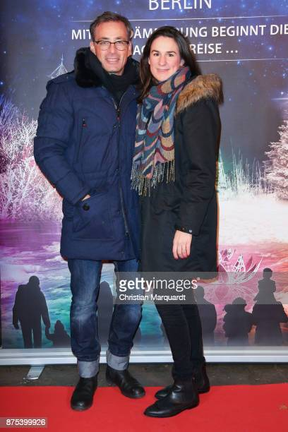 Jan Sosniok and partner Nadine attend the the opening of the Christmas Garden Berlin at Botanischer Garten on November 17 2017 in Berlin Germany