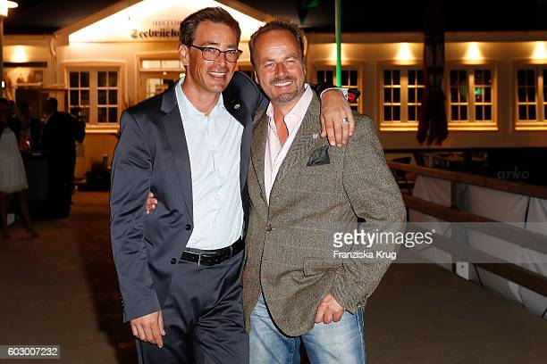 Jan Sosniok and Till Demtroeder attend the Till Demtroders CharityEvent 'Usedom Cross Country' on September 10 2016 near Heringsdorf in Usedom Germany