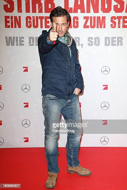 Jan Sosniok attends the German premiere of 'Die Hard Ein Guter Tag Zum Sterben' at the cinestar Potsdamer Platz on February 4 2013 in Berlin Germany