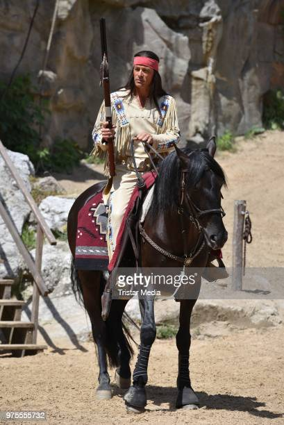 Jan Sosniok during the 'Winnetou und das Geheimnis der Felsenburg' on set photo call for the Karl May Festival on June 15 2018 in Bad Segeberg...