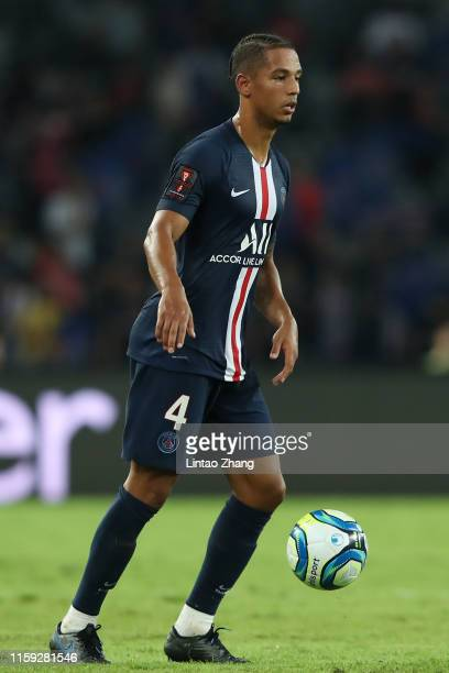 Jan Thilo Kehrer of Paris Saint-Germain competes the ball during to the 2019 Trophee des Champions between Paris saint-Germain and Stade Rennais FC...