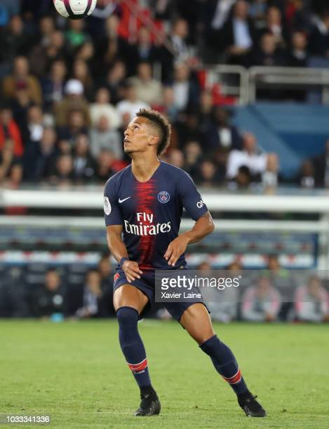 Jan Thilo Kehrer of Paris SaintGermain in action during the French Ligue 1 match between Paris Saint Germain and AS Saint Etienne on September 14...