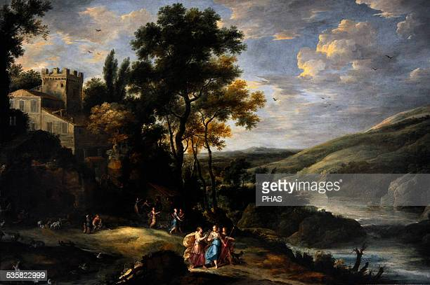 Jan Tilens Flemish painter A mountain valley with Diana and her nymphs Gemaldegalerie Berlin Germany