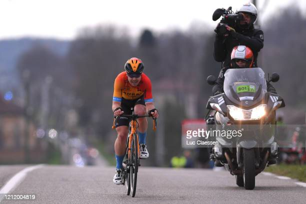 Jan Tratnik of Slovenia and Team Bahrain Mclaren / Breakaway / during the 78th Paris Nice 2020 Stage 5 a 227 km stage from Gannat to La...