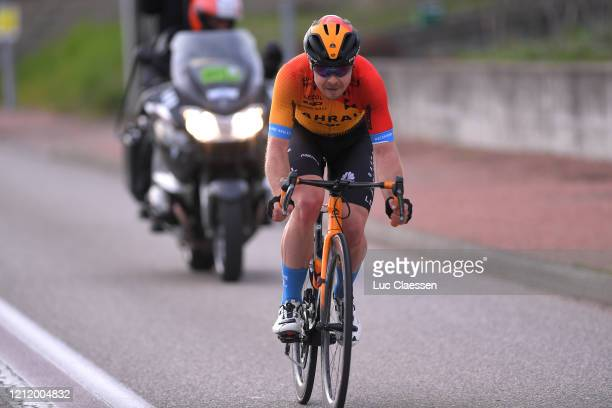 Jan Tratnik of Slovenia and Team Bahrain - Mclaren / Breakaway / during the 78th Paris - Nice 2020, Stage 5 a 227 km stage from Gannat to La...