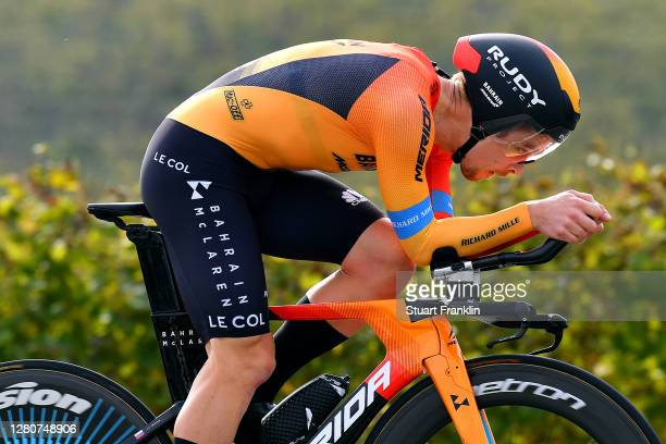 Jan Tratnik of Slovenia and Team Bahrain - Mclaren / during the 103rd Giro d'Italia 2020, Stage 14 a 34,1km individual Time Trial from Conegliano to...