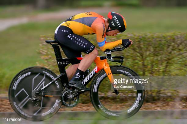 Jan Tratnik of Slovenia and Team Bahrain - Mclaren / during the 78th Paris - Nice 2020, Stage 4 a 15,1km Individual Time Trial from...
