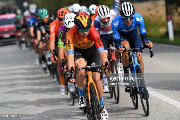 Jan Tratnik of Slovenia and Team Bahrain - Mclaren / Sergio Samitier Samitier of Spain and Movistar Team / during the 103rd Giro d'Italia 2020, Stage...
