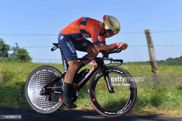 Jan Tratnik of Slovenia and Team Bahrain-Merida / during the 106th Tour de France 2019 - Stage 13 a 27,2km Individual Time Trial Stage from Pau to...