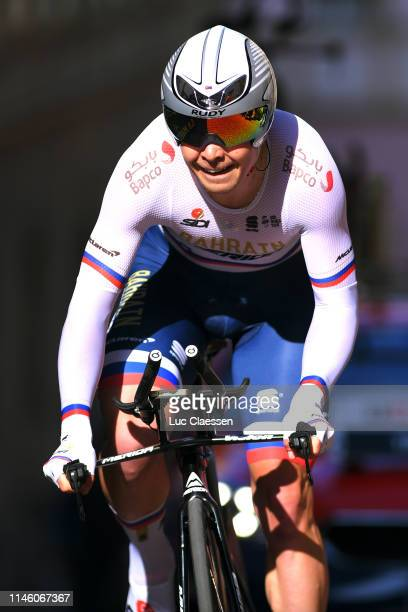 Jan Tratnik of Slovenia and Team Bahrain-Merida / during the 73rd Tour de Romandie 2019, Prologue a 3,87km Individual Time Trial from Neuchâtel to...