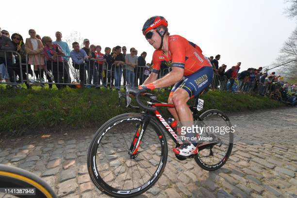 Jan Tratnik of Slovenia and Team Bahrain-Merida / Koppenberg / Cobblestones / Fans / Public / during the 103rd Tour of Flanders 2019 - Ronde van...