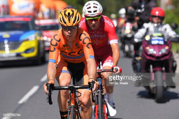 Jan Tratnik of Slovenia and Team Ccc Sprandi Polkowice / Bert Van Lerberghe of Belgium and Team Cofidis Solutions Credits / during the 75th Tour of...