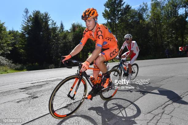 Jan Tratnik of Slovenia and Team Ccc Sprandi Polkowice / Marek Rutkiewicz of Poland and Team Reprezentacja Polski / during the 75th Tour of Poland...