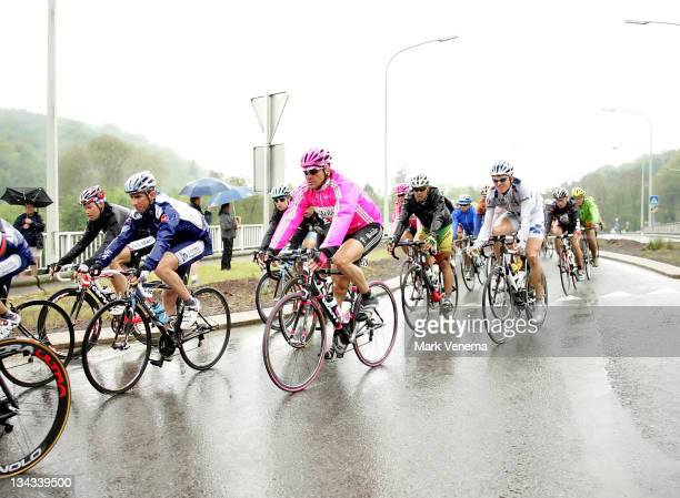 Jan Ullrich of Cycling Team TMobile among other cyclists racing through heavy rainstorms during most of the 3rd stage of the 2006 Giro d'Italia