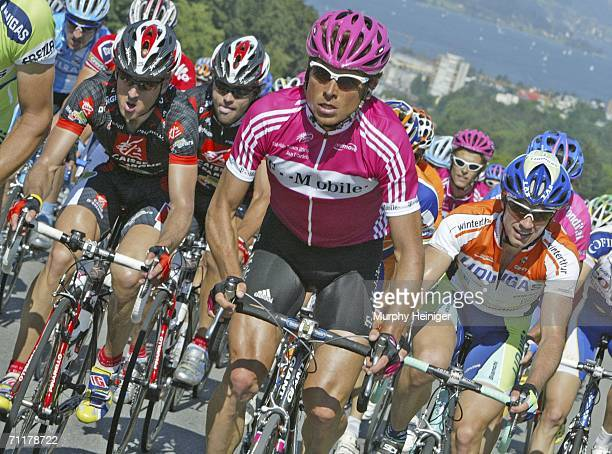 Jan Ullrich of Germany and Team TMobile rides during stage two of the 70th Tour de Suisse June 11 2006 between Bremgarten and Einsiedeln Switzerland