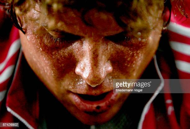 Jan Ullrich of Germany from the TMobile Team warm up before the first stage time trial of the 2006 edition of the Tour de Romandie on April 25 2006...