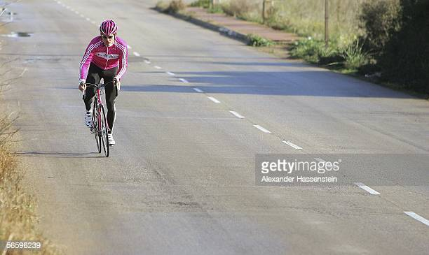 Jan Ullrich of Germany in action during the T-Mobile team training camp on January 15, 2006 in Mallorca, Spain.