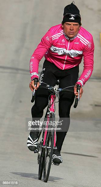 Jan Ullrich of Germany in action during the training camp of the TMobile Team on January 8 2006 in Mallorca Spain
