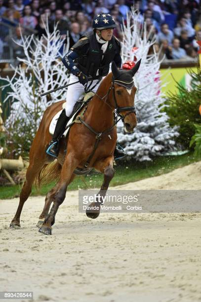 Jan van BEEK of Netherlands riding Vamp du Monselet during the Cross Indoor sponsored by Tribune de Genève Rolex Grand Slam Geneva 2017