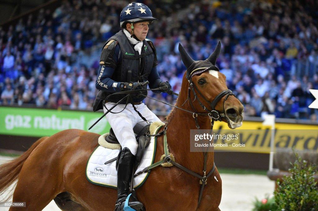 Jan van BEEK, of Netherlands, riding Vamp du Monselet, during the Cross Indoor sponsored by Tribune de Genève , Rolex Grand Slam Geneva 2017