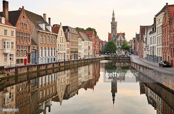 jan van eyckplein, belgium - bruges stock pictures, royalty-free photos & images