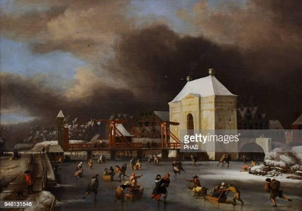 Jan van Kessel II Flemish painter By the Heilige Wegs Poort in Amsterdam 1680 National Gallery Oslo Norway